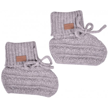 Melton Ulltøfler Light Grey Melange